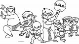 Chhota Bheem Team Fight Coloring Page