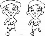 Chhota Bheem Two Running Coloring Page