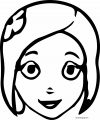 Chhota Bheem Woman Face Coloring Page