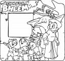 Chhota Bheem Write Board With Family Coloring Page