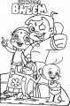 Chhota Bheem Write Family Coloring Page