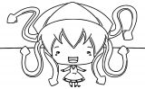 Chibi Cute Good Squid Girl Coloring Page
