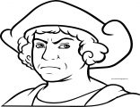 Christopher Columbus Coloring Page Angry