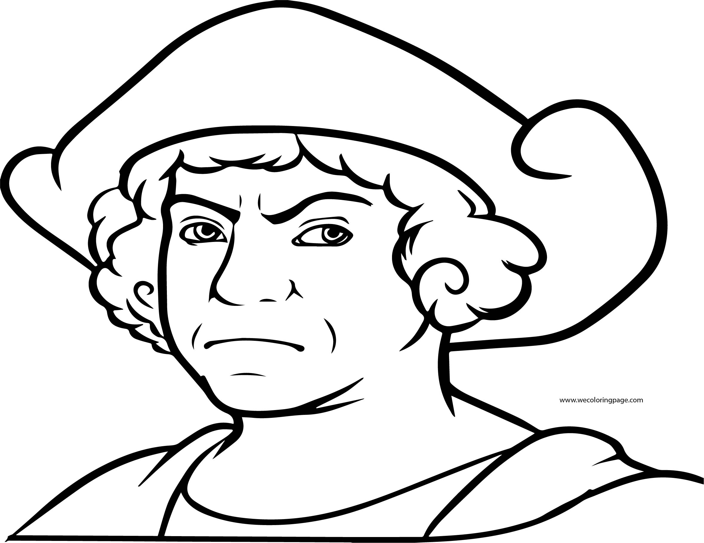 Christopher Columbus Coloring Page Angry | Wecoloringpage.com