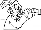 Christopher Columbus Coloring Page Binoculars