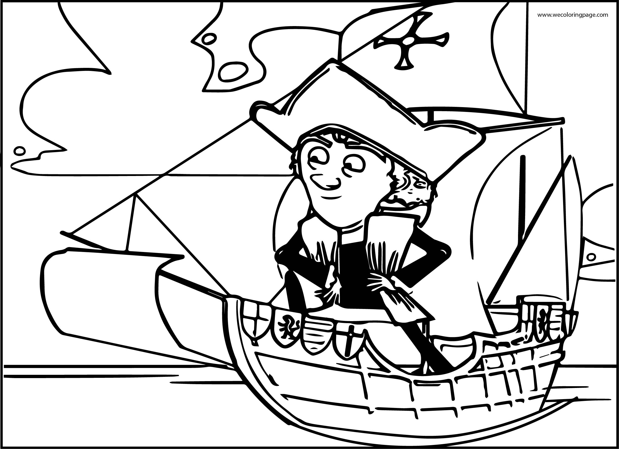 Christopher Columbus Coloring Page Ship | Wecoloringpage.com