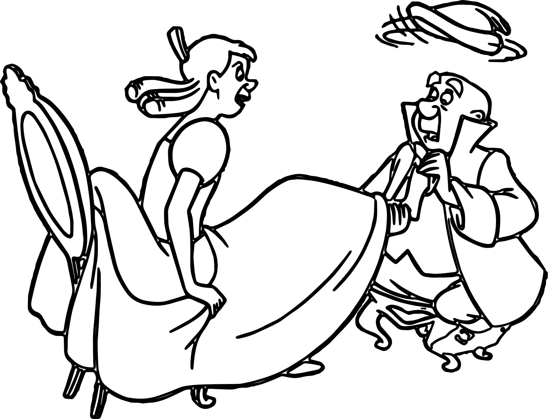 Cinderella Lady Tremaine Anastasia Drizella And Lucifer Coloring Pages 32