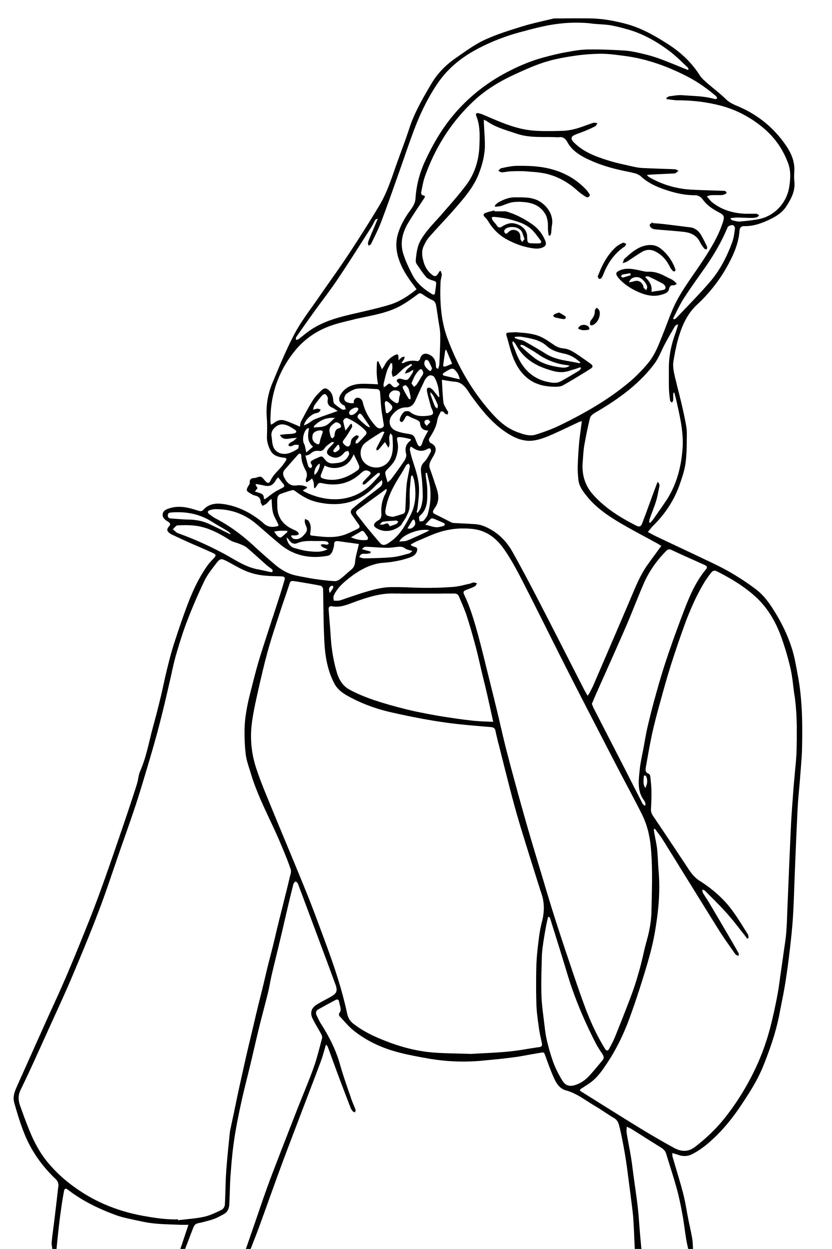 Cinderella Mice And Birds Coloring Pages 01