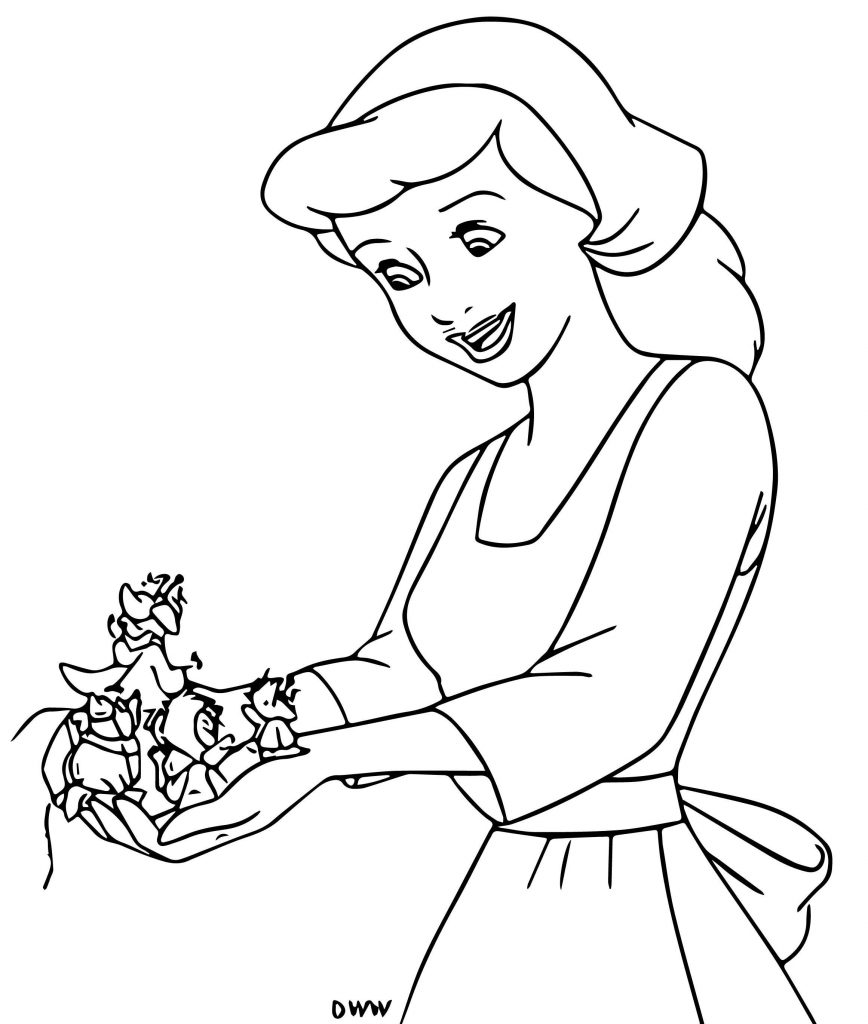 Cinderella Mice And Birds Coloring Pages 27 | Wecoloringpage.com