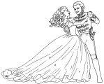 Cinderella Prince Dancing Coloring Page