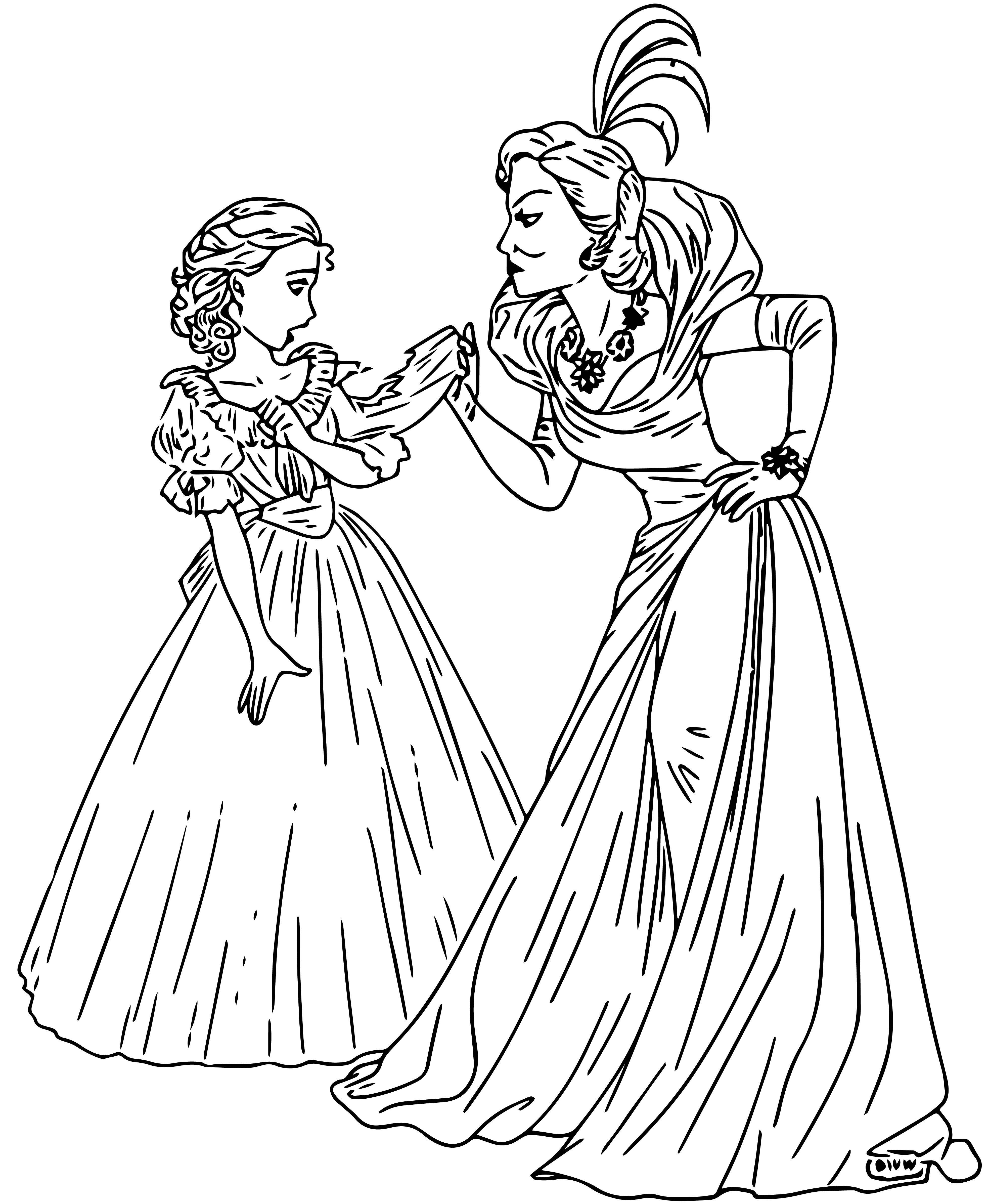 Cinderella Step Mother Coloring Page