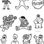 Cricut Cartridge Sesame Street Friends Sesame Street Coloring Page