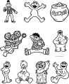 Cricut Cartridge Sesame Street Friends Sesame Street Coloring Page