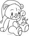 Cute Bear Cartoon Drawn Illustration Print Kids Wear Coloring Page