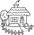 Cute House Coloring Page