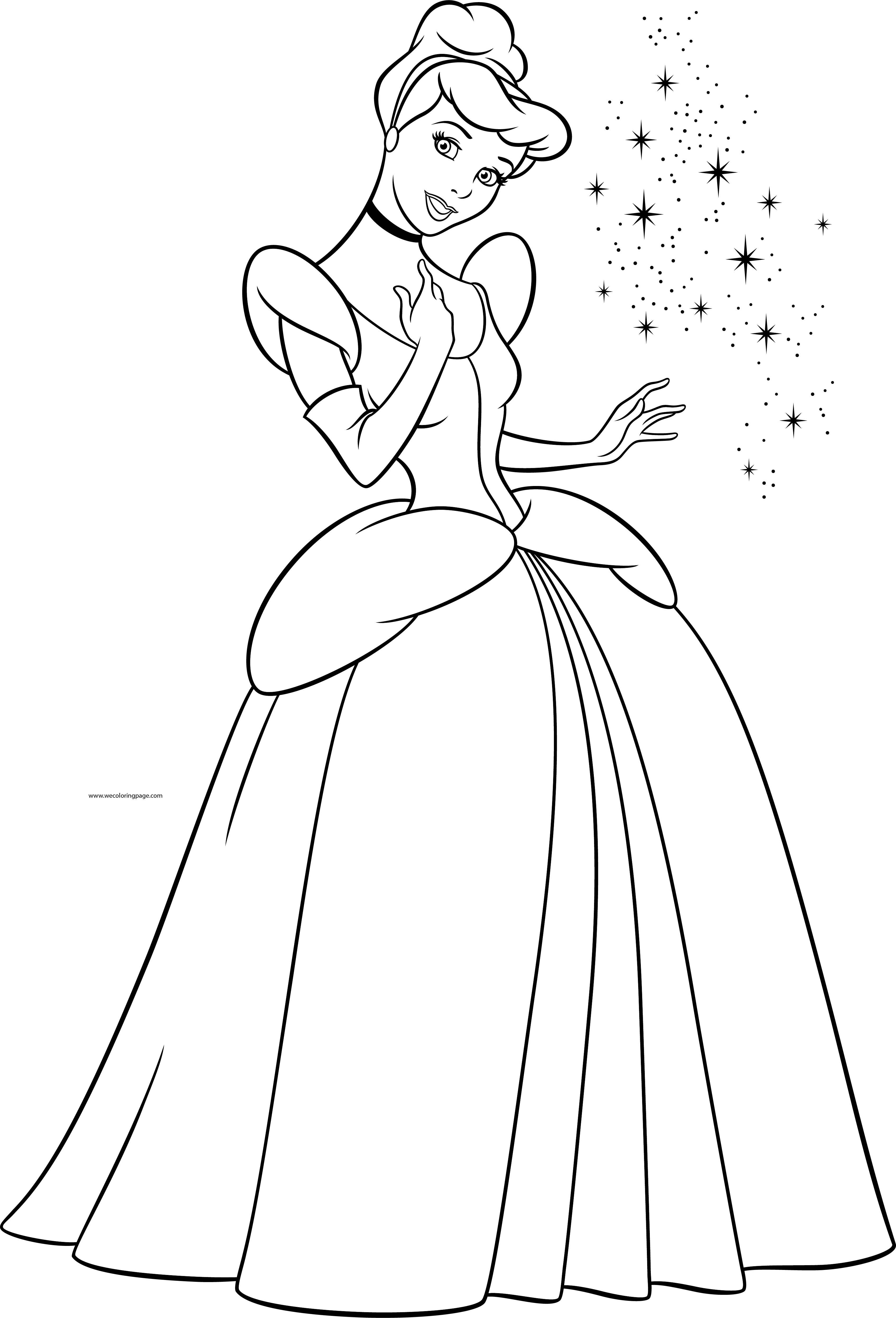 Disney Cinderella Princess Coloring Page