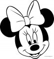 Disney Cute Minnie Girl Happy Face Coloring Page