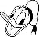 Disney Donald Side Face Coloring Page