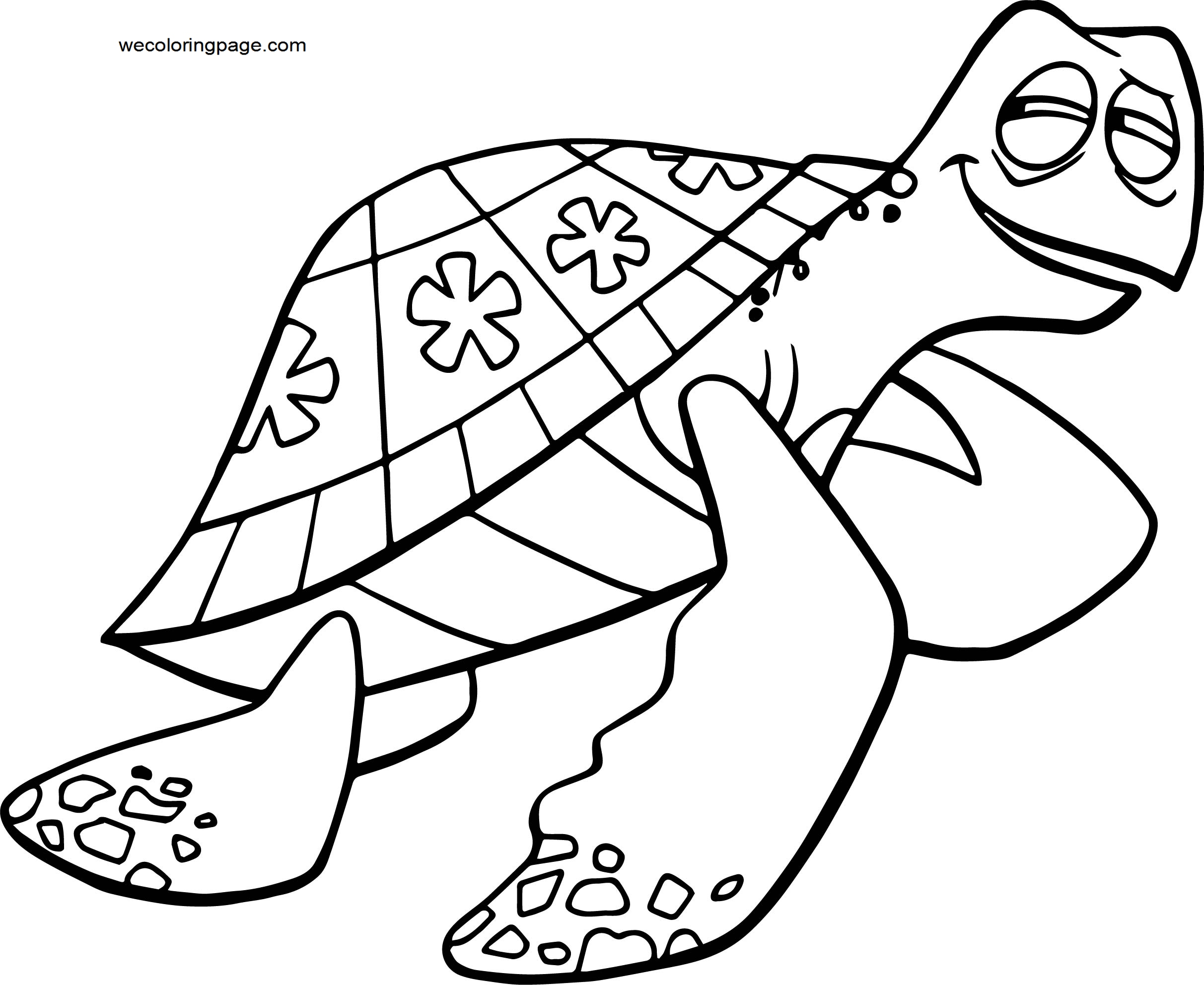 Disney Finding Nemocrush Coloring Pages
