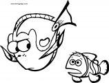 Disney Finding Nemofish swim Coloring Pages