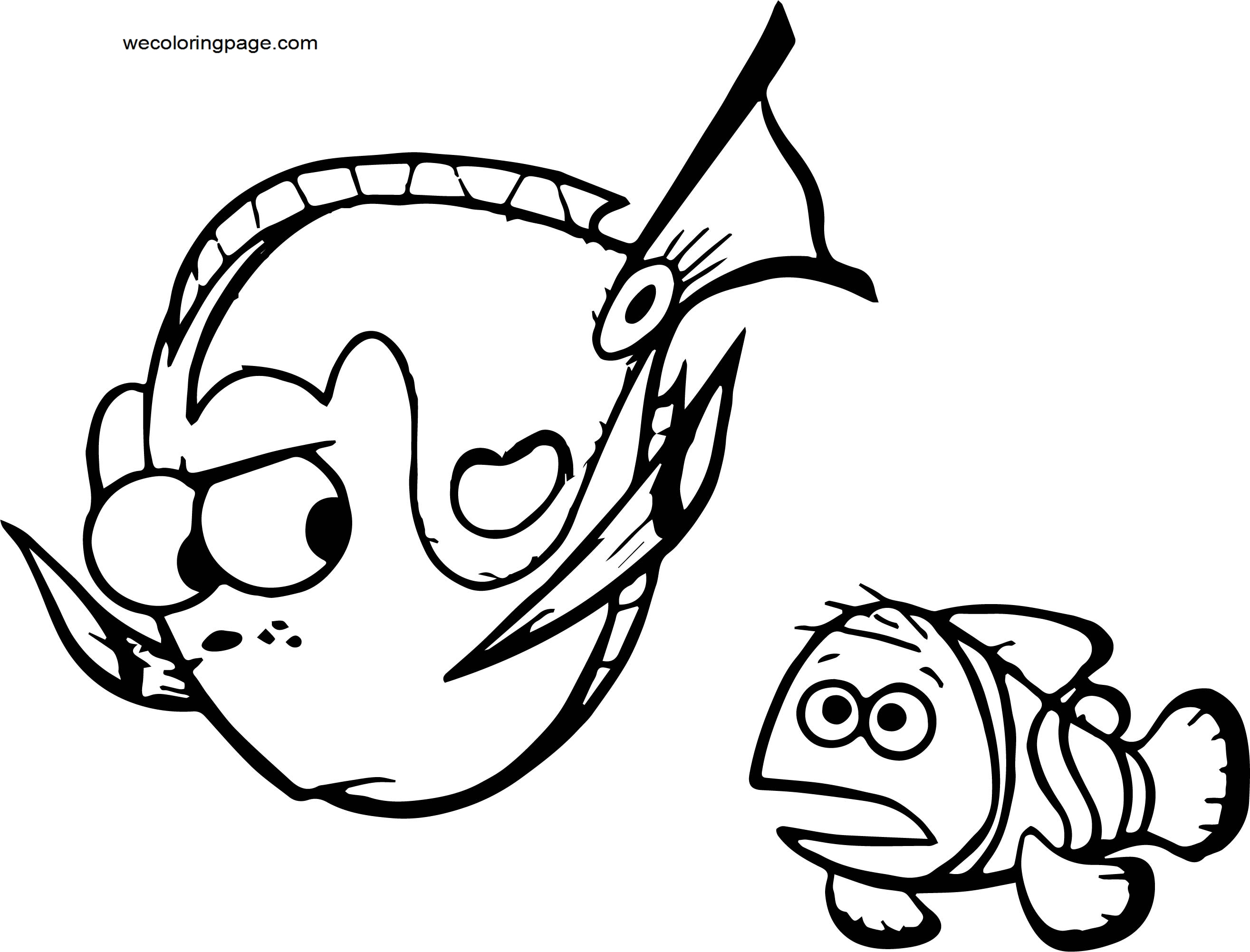 Disney Finding Nemofish swim Coloring Pages