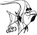Disney Finding Nemogill n Coloring Pages