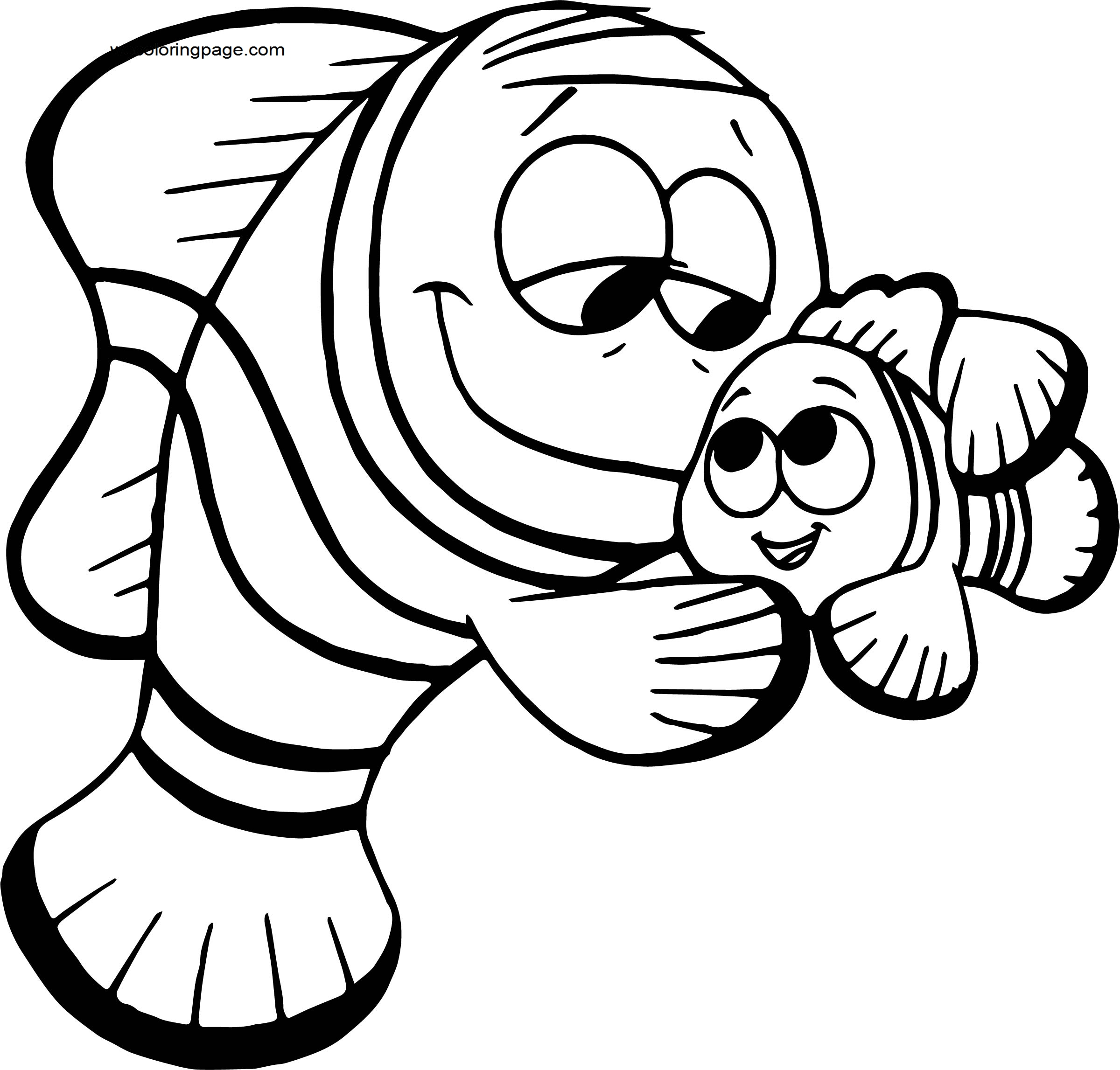 Disney Finding Nemonemo marlin Coloring Pages