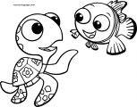 Disney Finding Nemonemo squirt 2 Coloring Pages