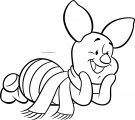 Disney Piglet Sweet Pose Cold Weather Coloring Page