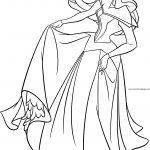 Disney Princess Aurora Beautiful Dance Coloring Page