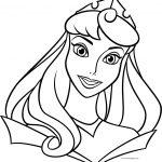 Disney Princess Aurora Beautiful Near Face Coloring Page