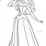 Disney Princess Aurora Pose Birds Coloring Page