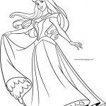 Disney Princess Aurora Pose Dress Coloring Page