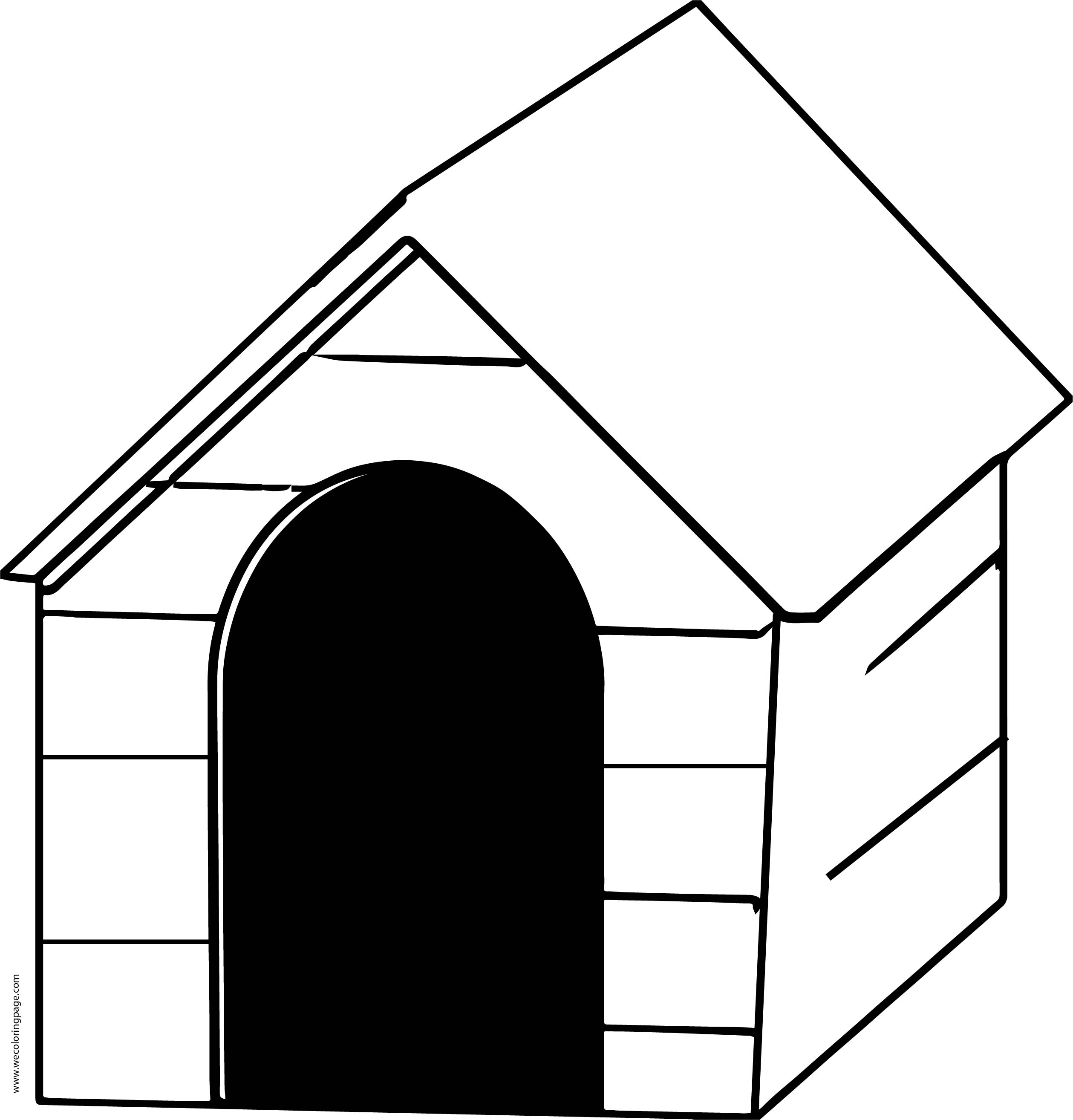 Awesome Coloring Page Dog House Illustration - Resume Ideas ...