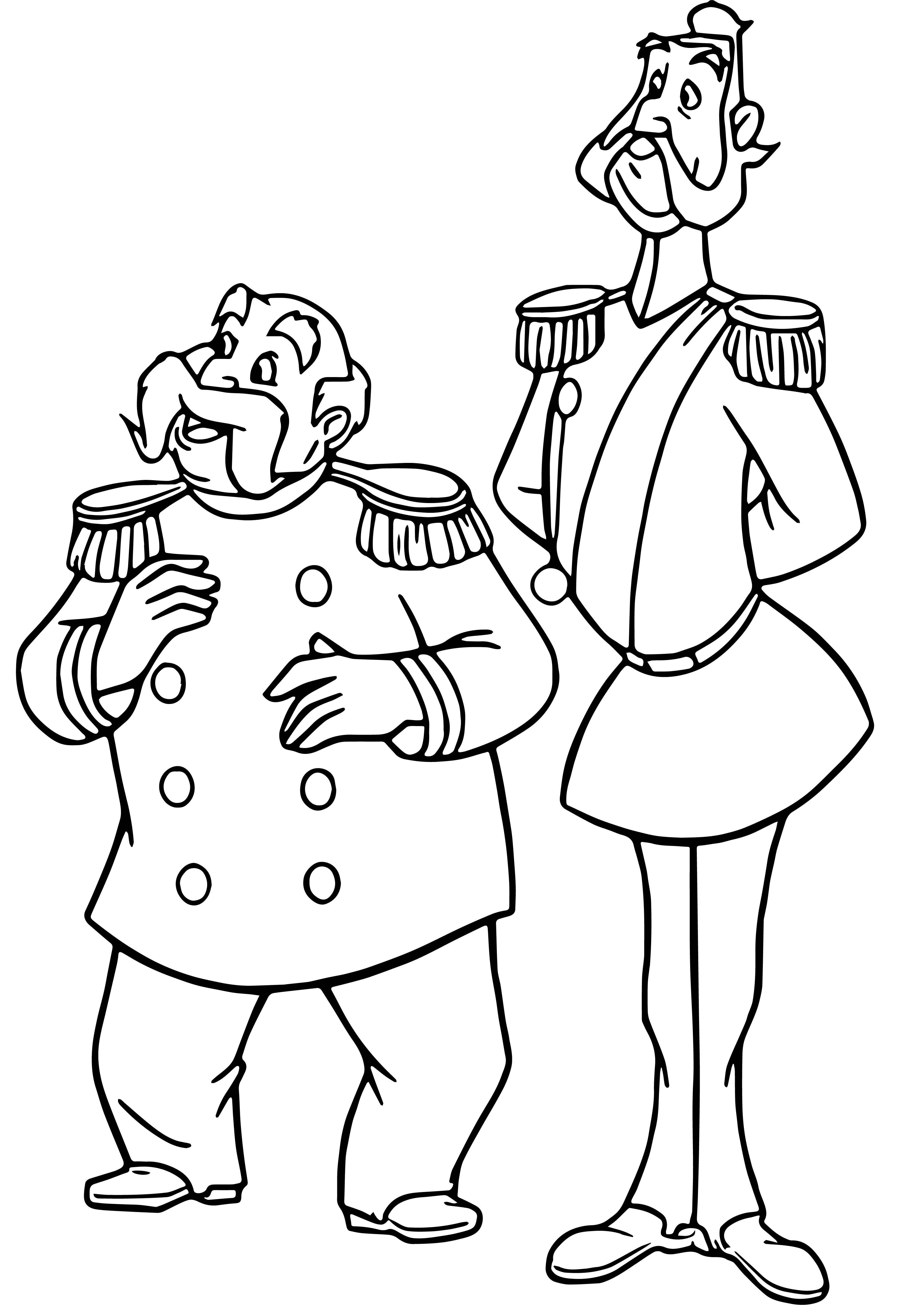 Duke And King Coloring Page 2