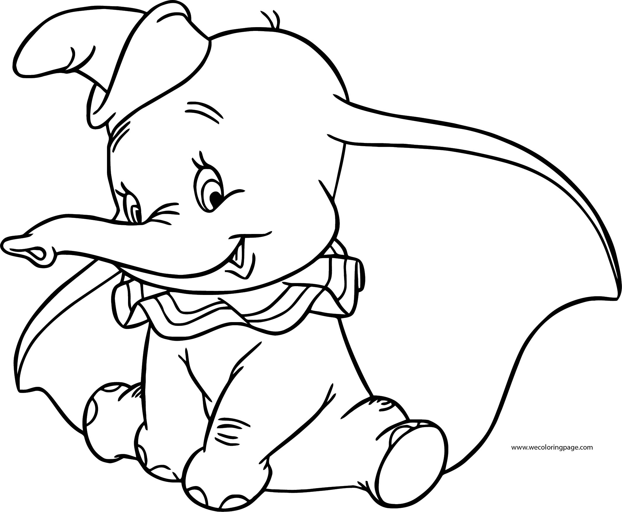 Dumbo Cute Coloring Pages 2 | Wecoloringpage.com