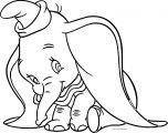 Dumbo Cute Face Coloring Pages