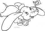 Dumbo Flag Carry Coloring Pages