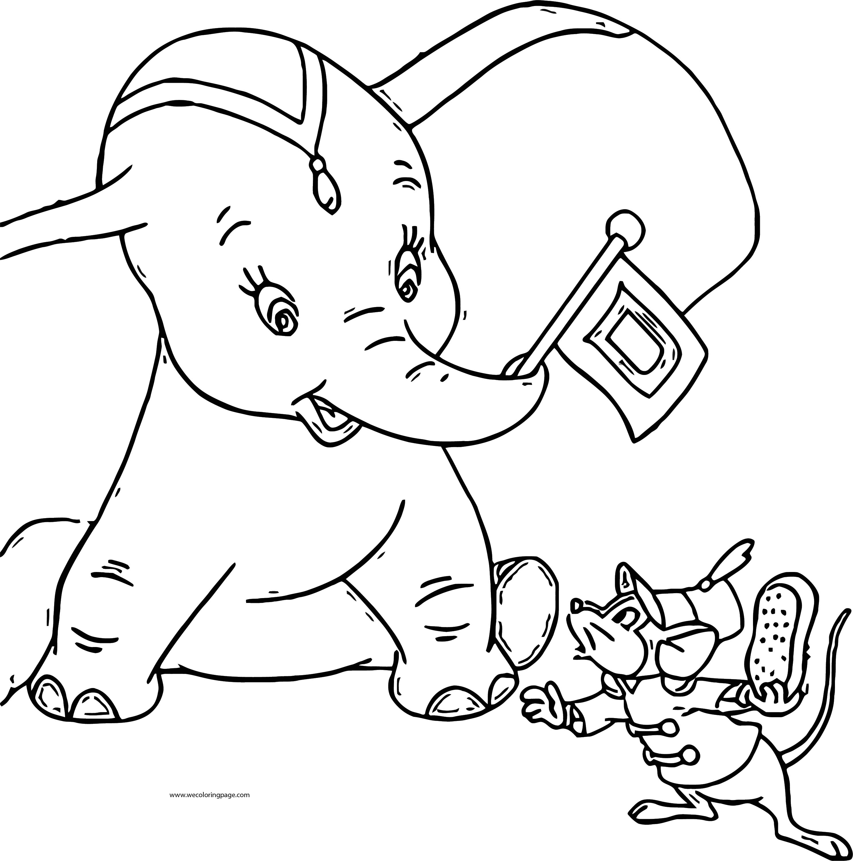 Dumbo Flag Coloring Page