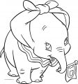 Dumbo Flag Walking Coloring Pages