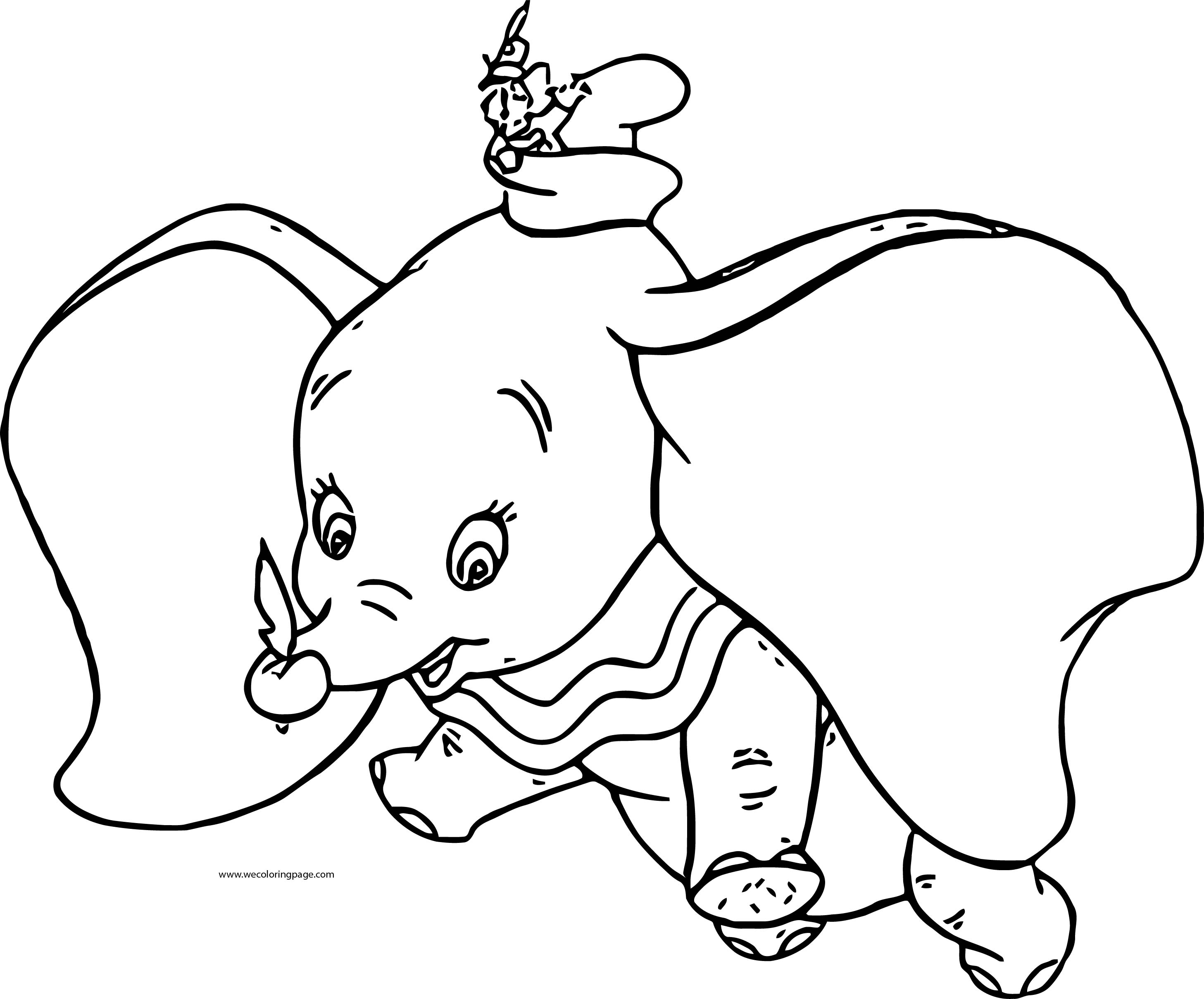 Dumbo Fly Coloring Page