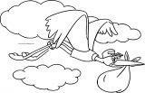Dumbo Stork Cloud Coloring Pages