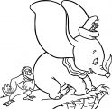 Dumbo Timothy Jimcrow Coloring Page