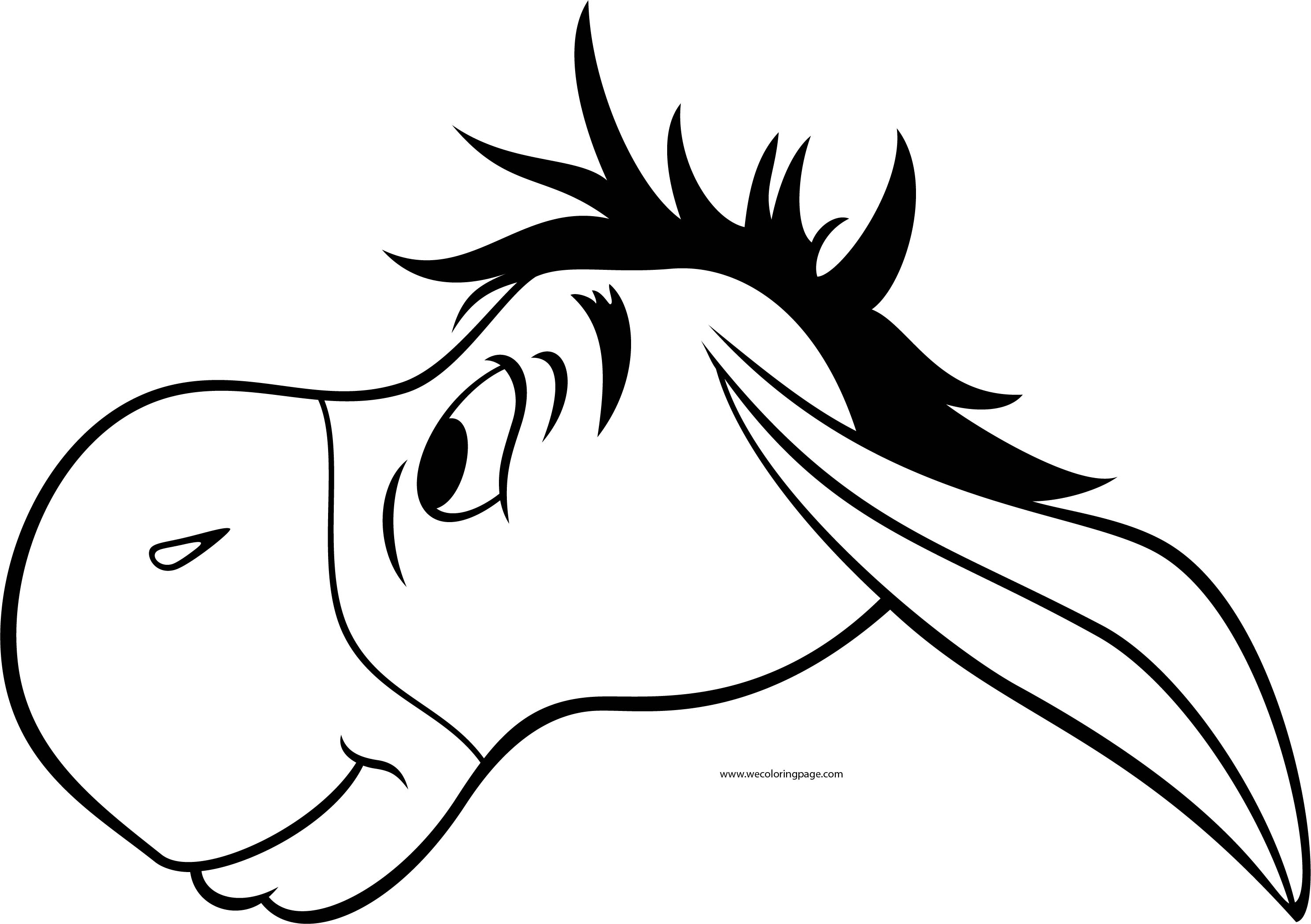 Eeyore Side Face Coloring Page