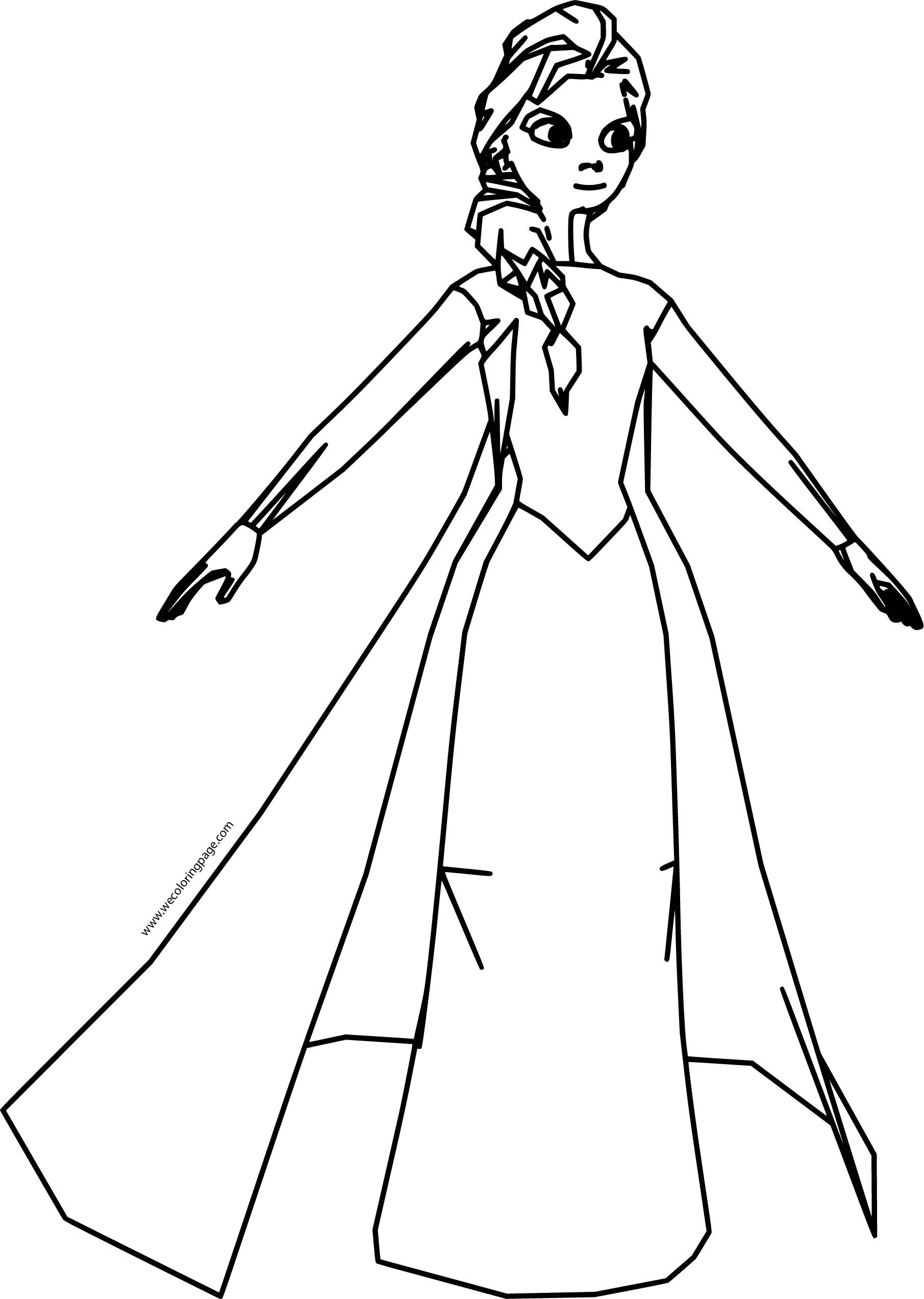 Elsa Dress Coloring Page