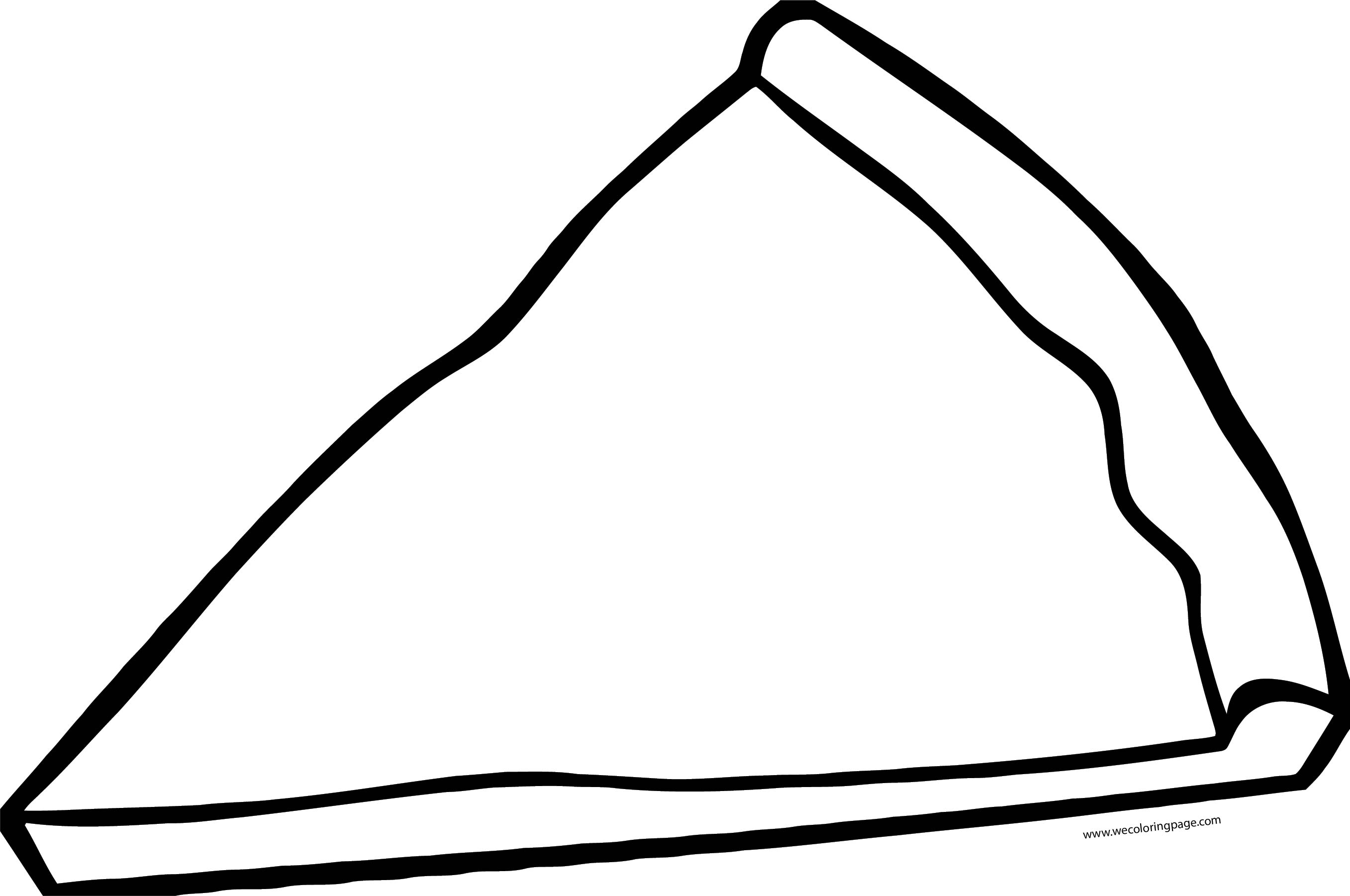 Empty Pizza Coloring Page WeColoringPage