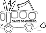 English Teacher Back To School Bus Coloring Page