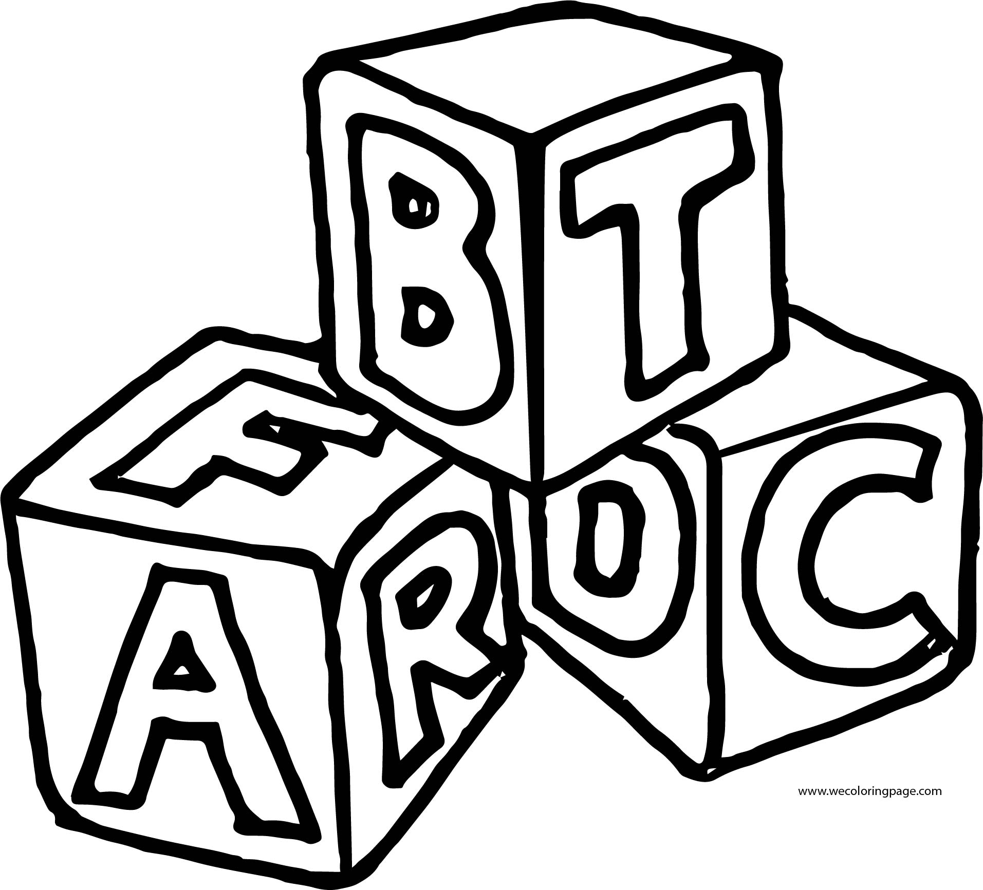 English Teacher Cube Coloring Page