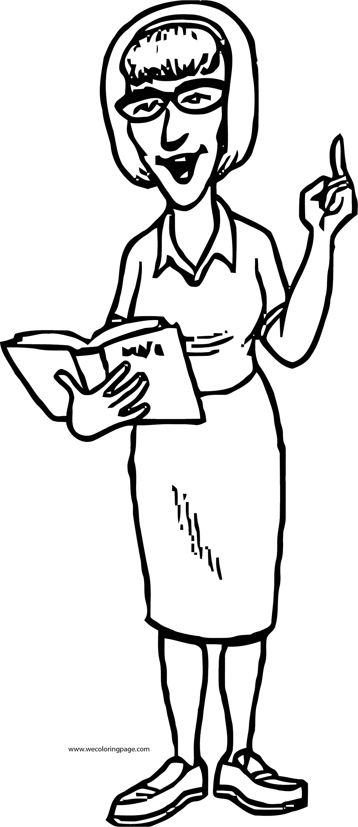 English Teacher We Coloring Page 055