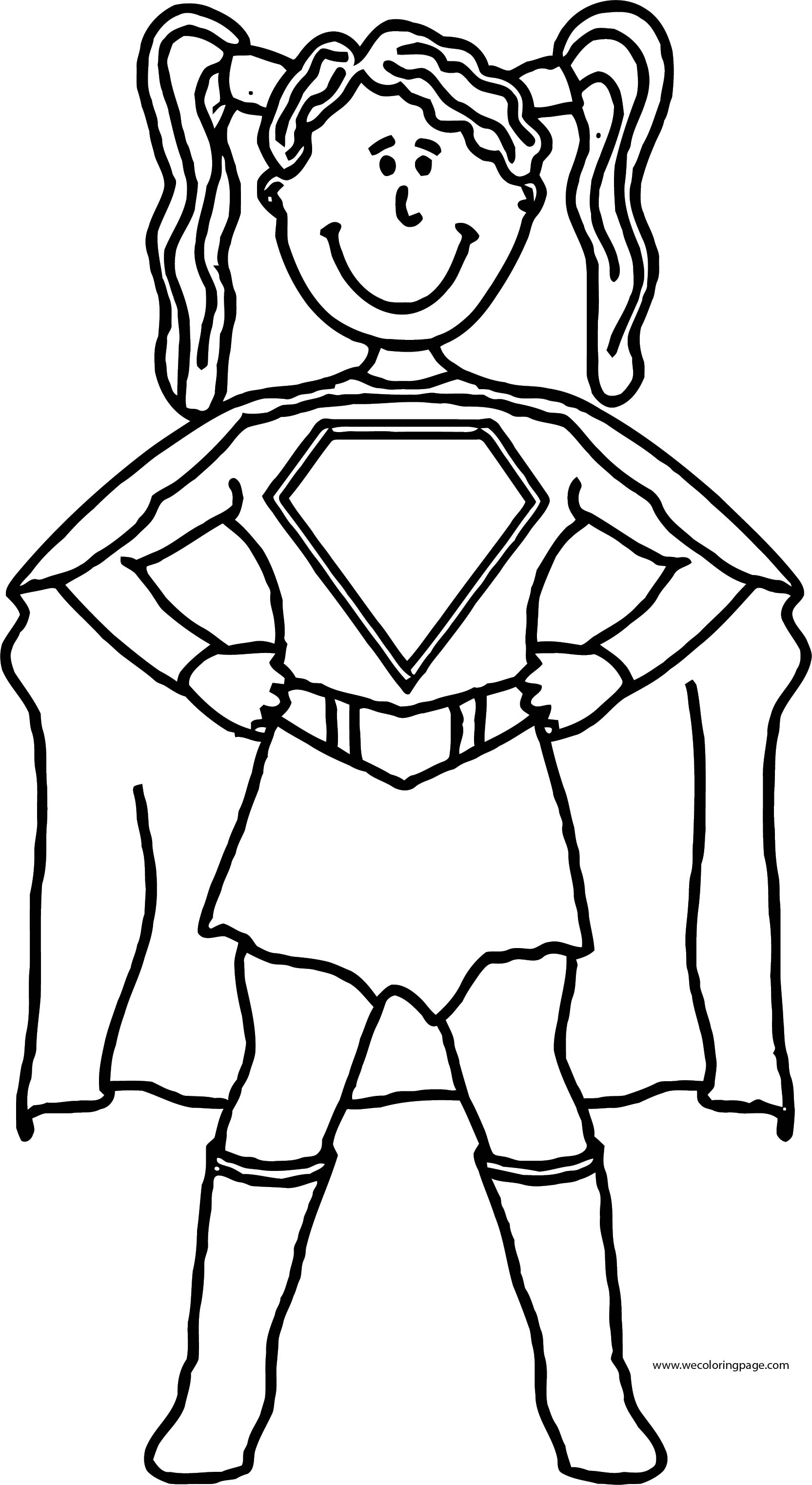 English Teacher We Woman Superman Coloring Page